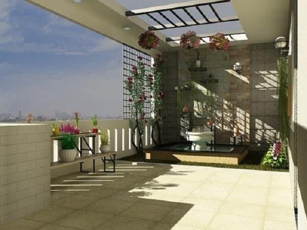 Những mẫu thiết kế sân thượng đẹp cho nhà ống hoặc nhà phố hiện đại - 1