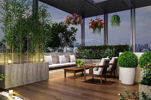Những mẫu thiết kế sân thượng đẹp cho nhà ống hoặc nhà phố hiện đại - 9