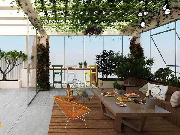 Những mẫu thiết kế sân thượng đẹp cho nhà ống hoặc nhà phố hiện đại - 3