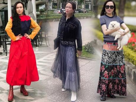 Phượng Chanel đúng là có thù với chân váy dài: cứ lên đồ đón ngày rétlại dìm dáng thấy thương