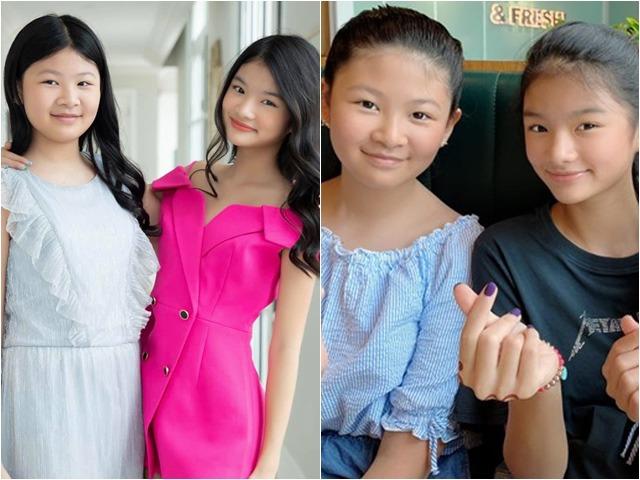 Con gái Trương Ngọc Ánh đứng cạnh một bé gái giống như chị em ruột, danh tính cũng không vừa