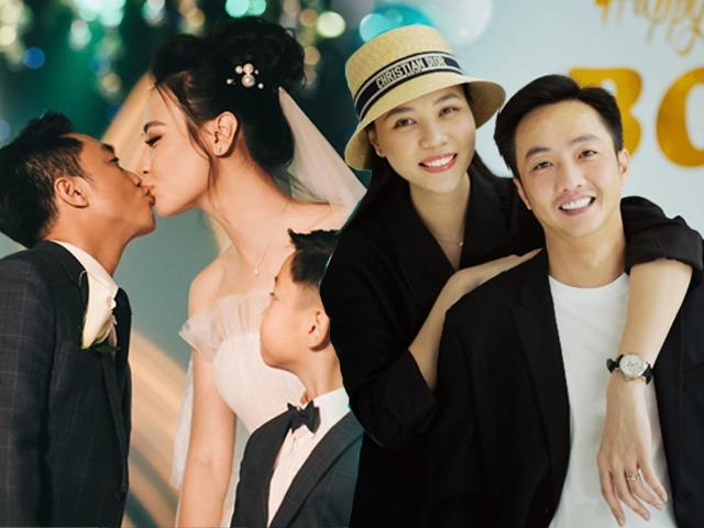 Cao hơn chồng nửa cái đầu nhưng Đàm Thu Trang-Cường Đô La vẫn siêu ngọt ngào khi diện đồ đôi