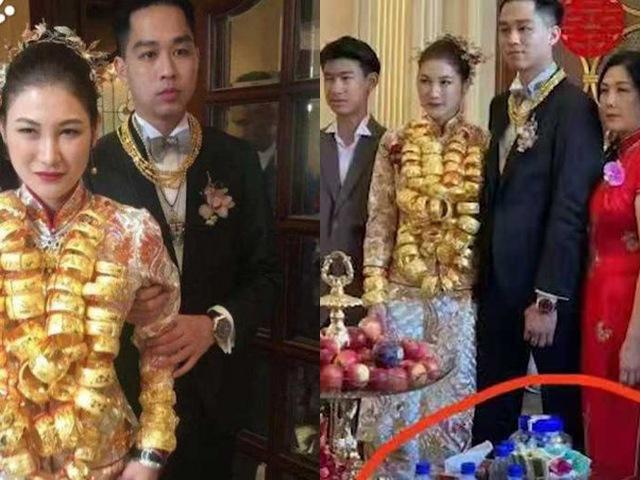Cô dâu đeo vàng gãy cổ, đón dâu bằng trực thăng, giá chai nước lọc trên bàn tiệc mới sốc