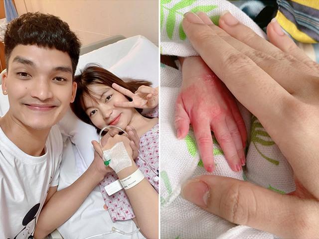 Vợ bầu 8 tháng đã đẻ, nhìn bàn tay con gái sinh non 1,9kg của Mạc Văn Khoa mà thương
