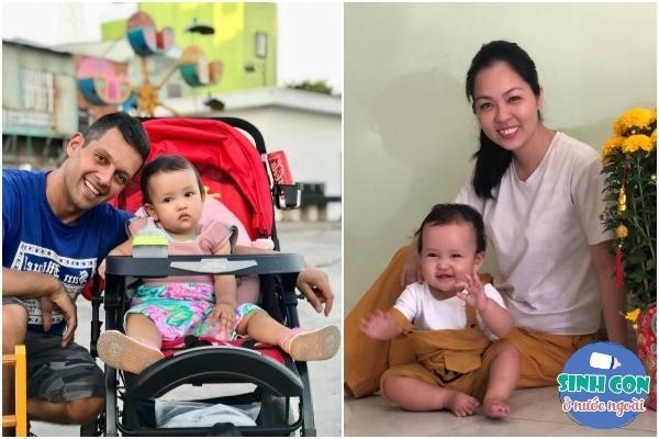 Cô gái Việt mang bầu chồng không ở cùng, lúc đẻ chồng Tây chăm chú nhìn xem con giống ai