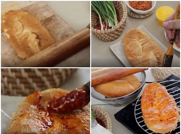 Cách làm bánh mì nướng muối ớt thơm ngon tại nhà cực đơn giản - 5