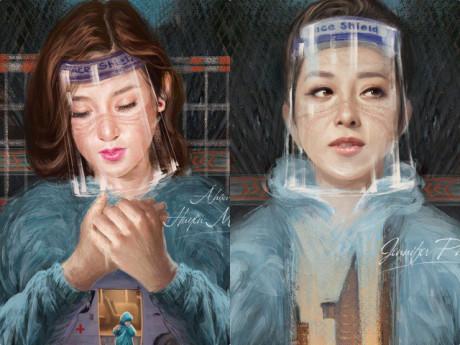 Hoa hậu Jennifer Phạm và Á hậu Huyền My khắc họa cuộc chiến chống COVID-19 trong phim mới
