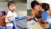"""Biểu cảm con trai Hoà Minzy khi lái """"xe mui trần"""", nói như sắp khóc với bà nội đại gia"""